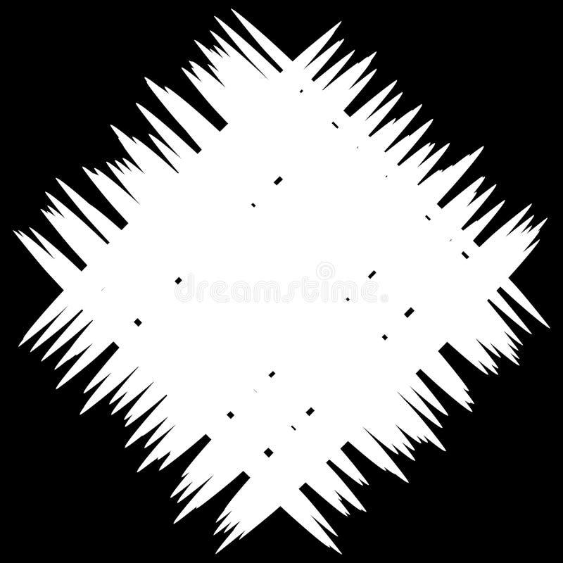 Correction monochrome abstraite avec les lignes aléatoires et irrégulières illustration libre de droits