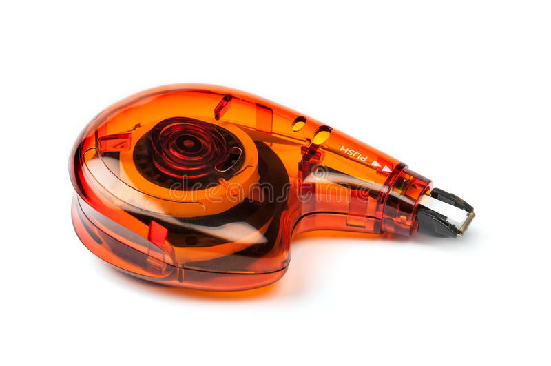 Correction tape roller. On white background royalty free stock photography