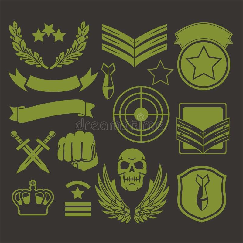 Corrections spéciales de militaires d'unité illustration de vecteur