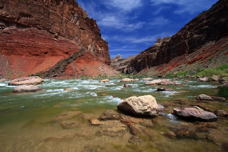 Corredeira de Hance em Grand Canyon fotos de stock