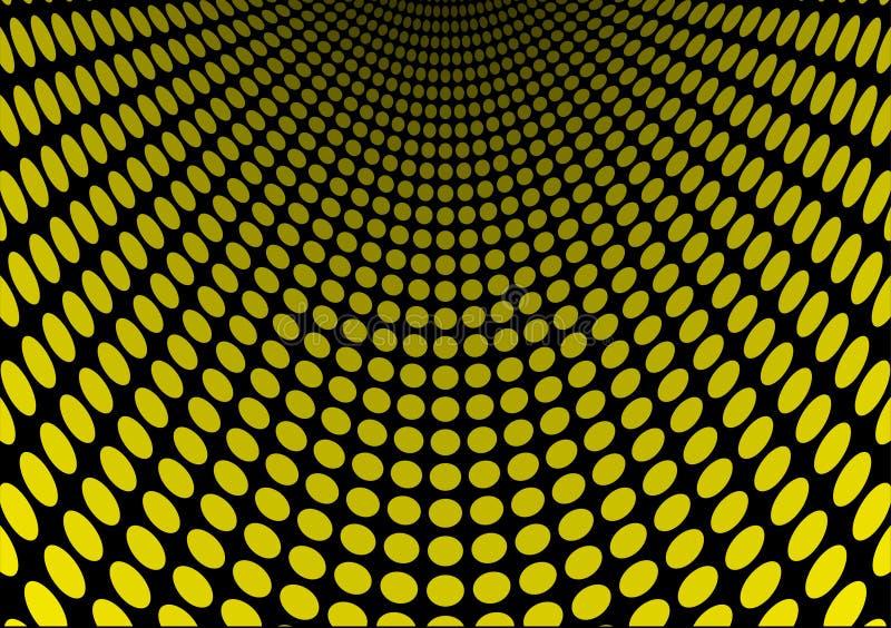 Corrediça amarela do ponto ilustração royalty free