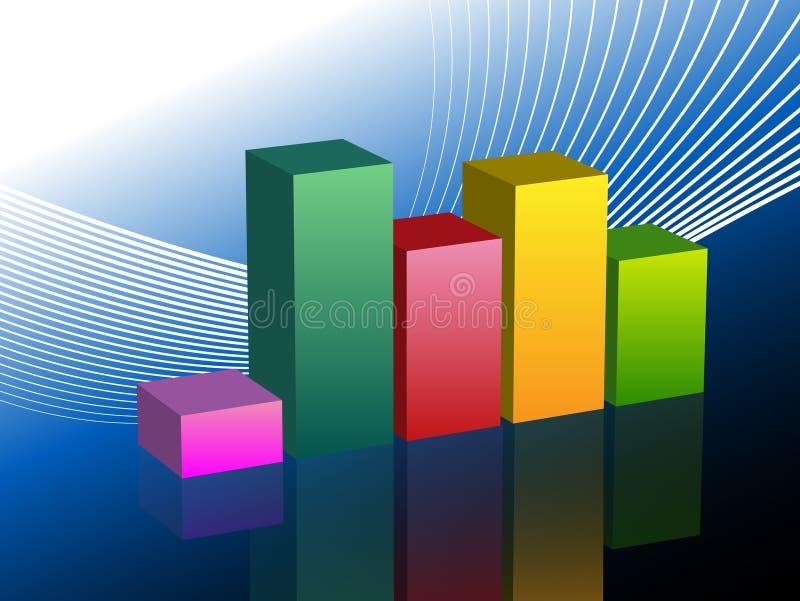 Corrediça da carta de negócio do gráfico de barra ilustração stock