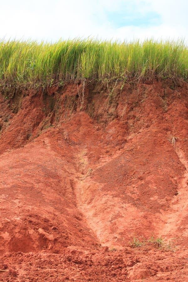 Corrediça da terra após chover imagens de stock royalty free