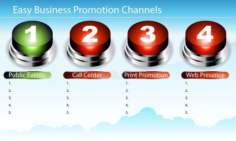 Corrediça fácil da promoção do negócio ilustração royalty free