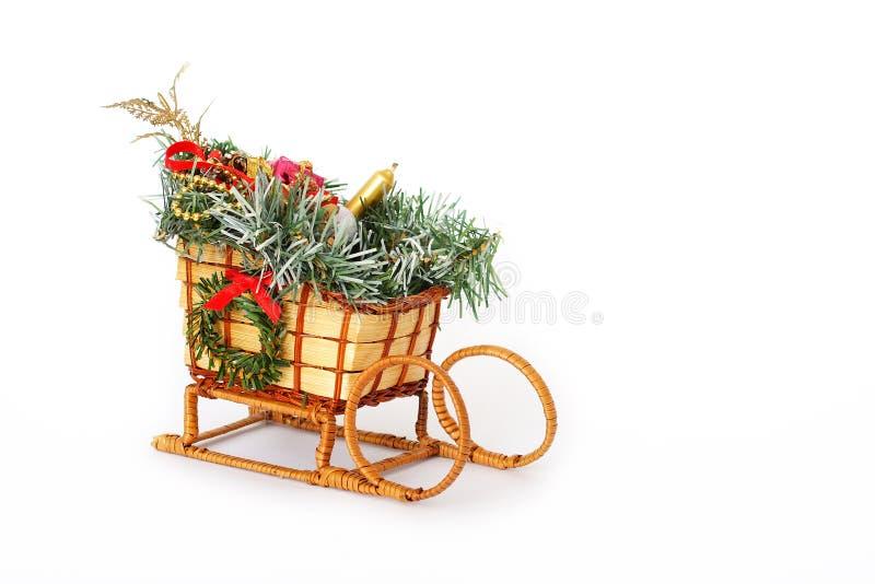 Corrediças do Natal isoladas no branco fotografia de stock royalty free