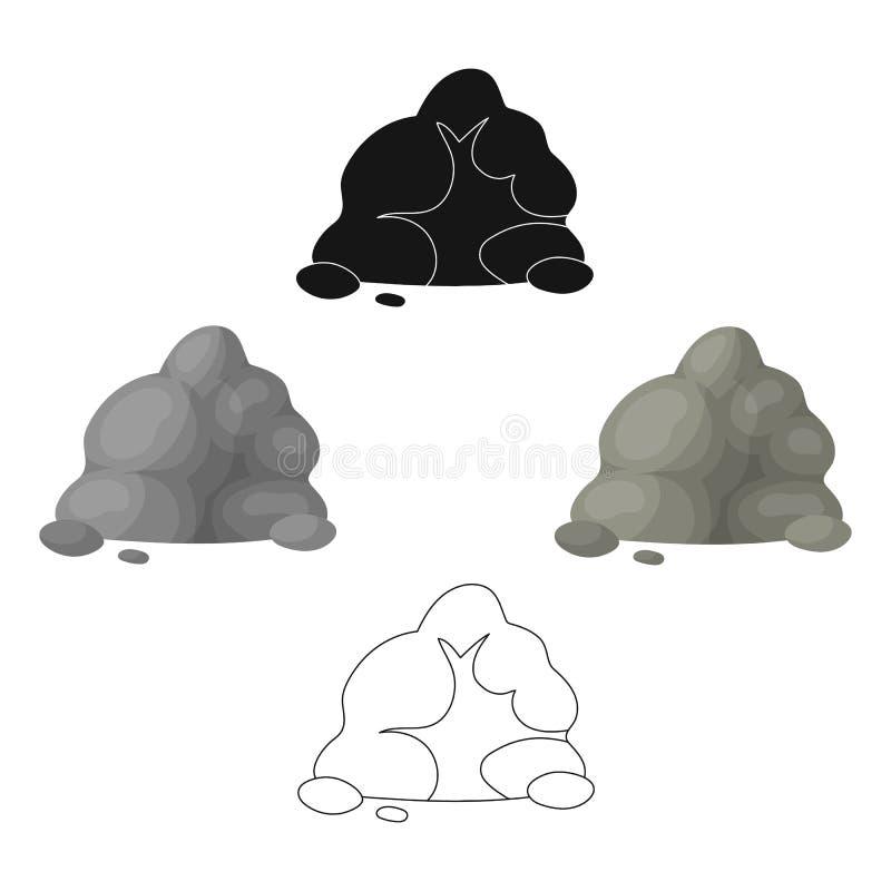 A corredi?a cinzenta pequena Uma montanha que consista em um grande n?mero pedras pequenas As montanhas diferentes escolhem o ?co ilustração royalty free