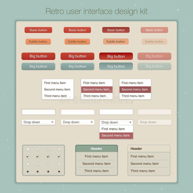 Corredo moderno del modello dello schermo dell'interfaccia utente per illustrazione vettoriale