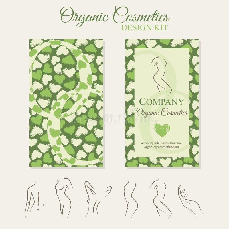 Corredo organico di progettazione dei cosmetici illustrazione di stock
