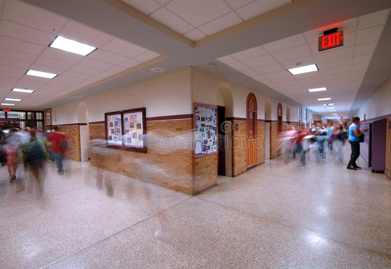 Corredor 4 da escola fotografia de stock