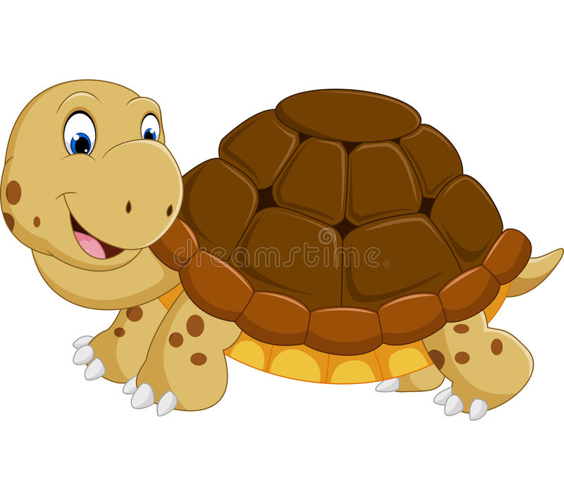 Corredor bonito dos desenhos animados da tartaruga