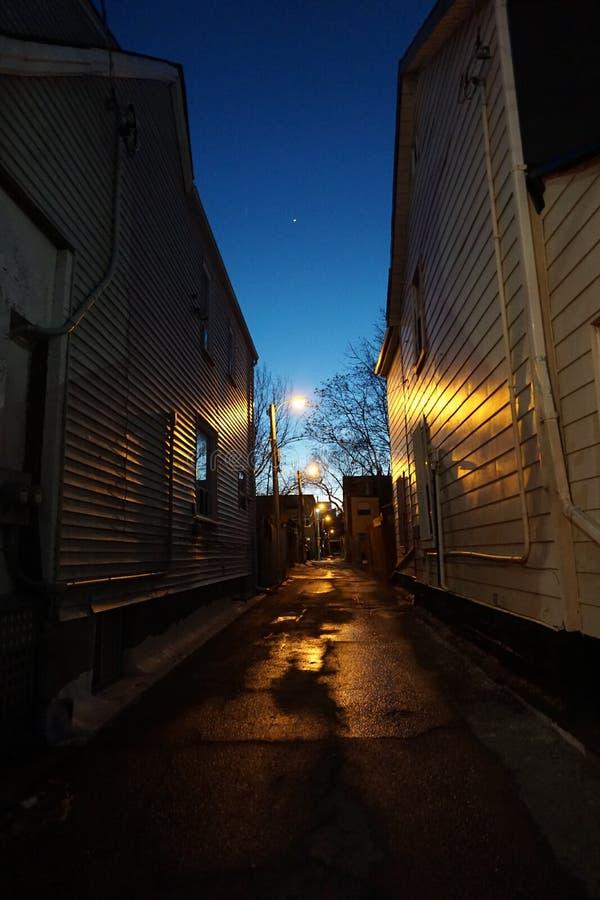 Corredor claro escuro foto de stock