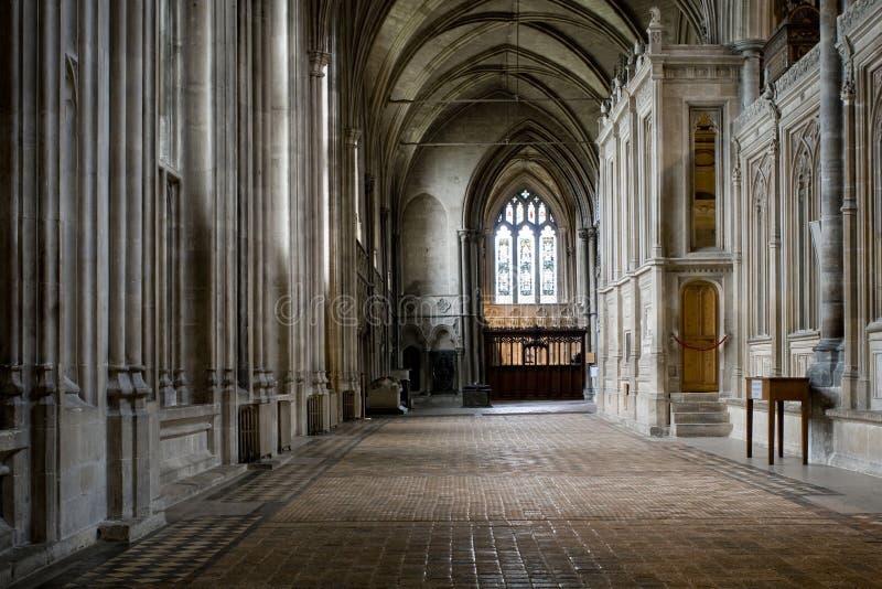 Corredor da catedral de Winchester imagem de stock royalty free