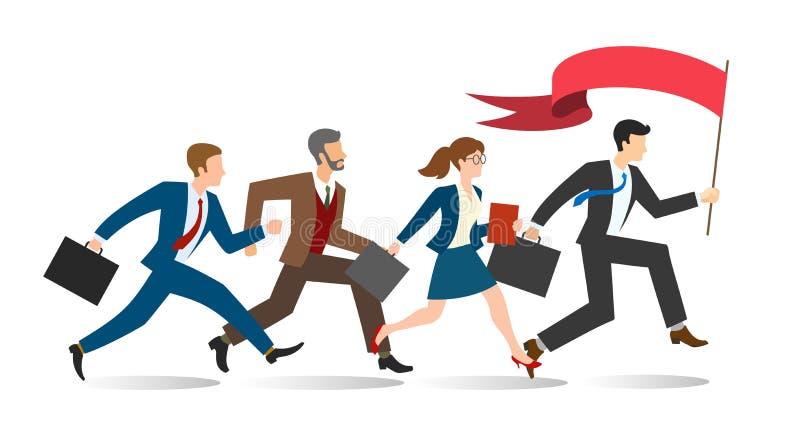 Corredor da equipe do negócio ilustração stock