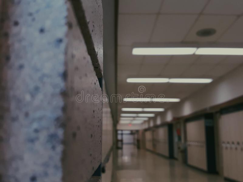 Corredor da escola foto de stock