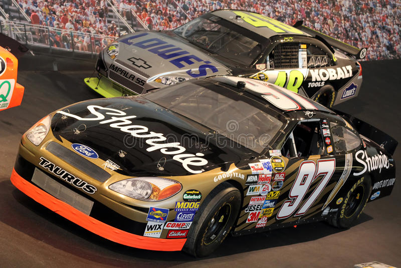 Corredor da fama de NASCAR imagem de stock