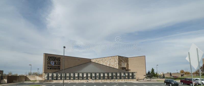 Corredor da fama do cavalo e museu de um quarto americanos, Amarillo, TX imagens de stock