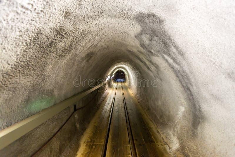 Corredor da mina de sal imagens de stock