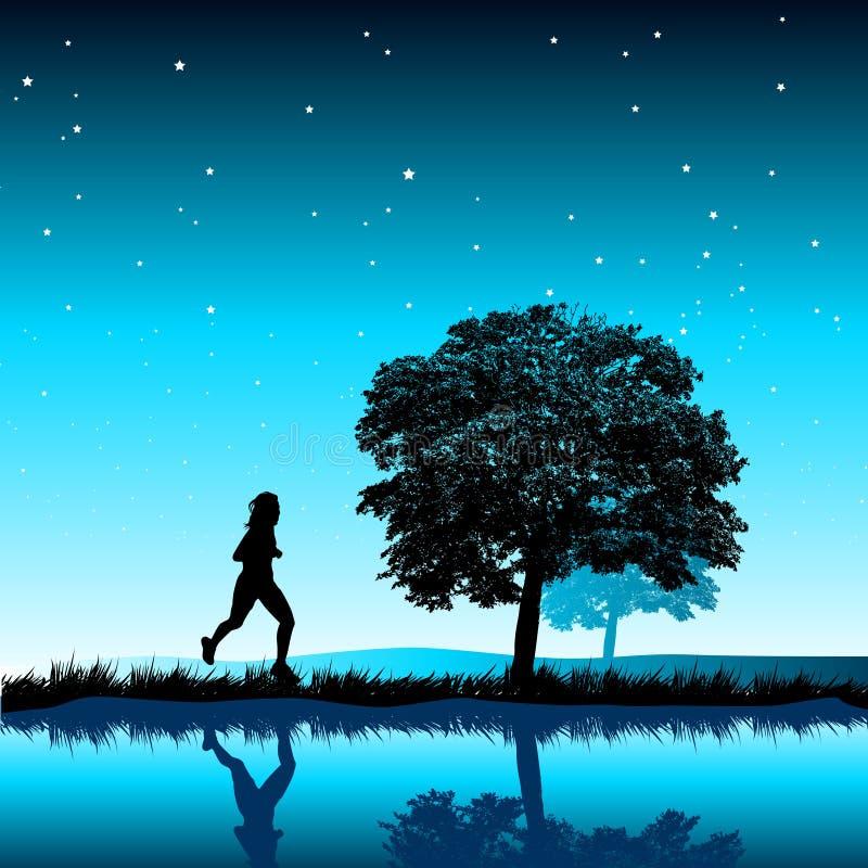 Corredor da noite ilustração stock