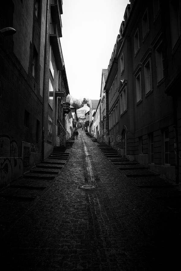Corredor de Budapest em preto e branco imagem de stock royalty free