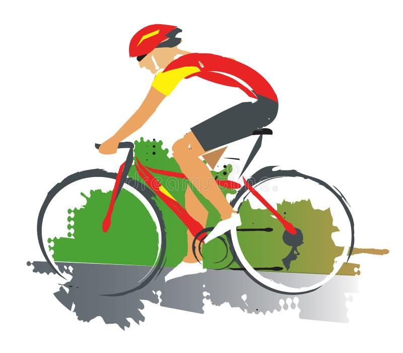 Corredor de ciclo del camino ilustración del vector