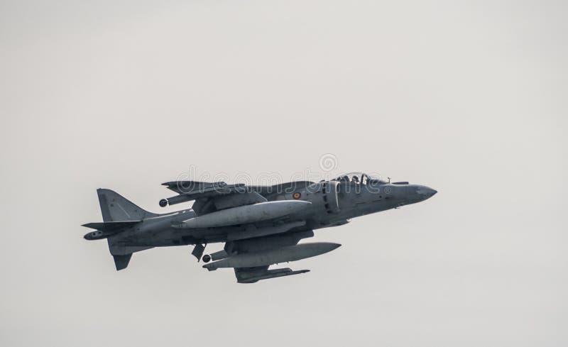 Corredor de cross de los aviones AV-8B más fotografía de archivo