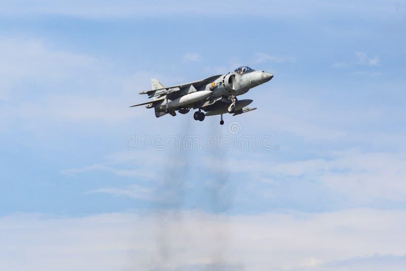 Corredor de cross de McDonnell Douglas AV-8B II y x28; EAV-8B Matador II& x29; imágenes de archivo libres de regalías
