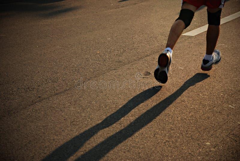 Corredor de maratón imagenes de archivo