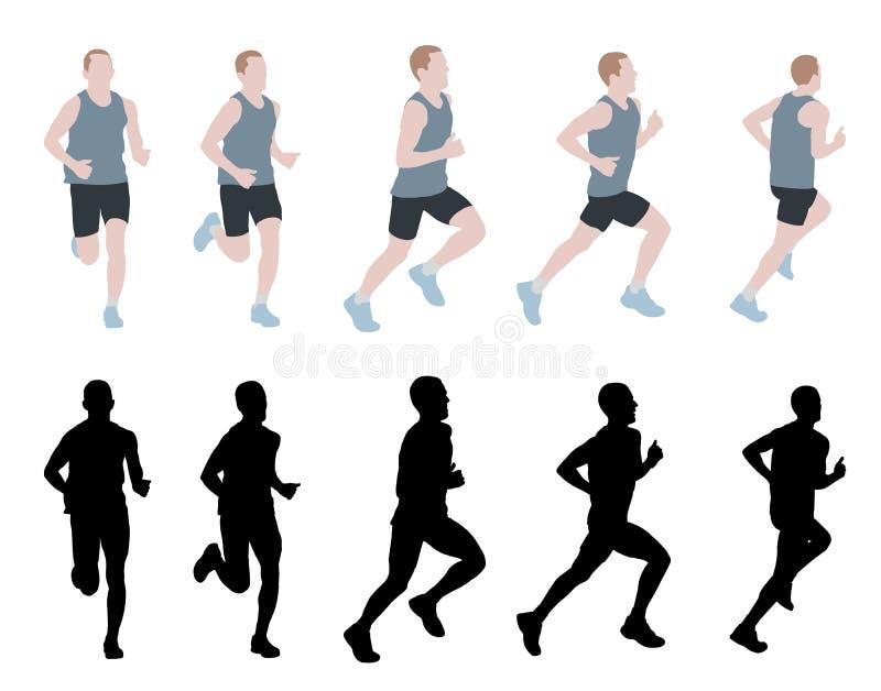 Corredor de maratón ilustración del vector