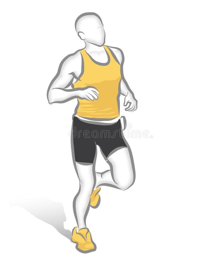 Corredor de maratón stock de ilustración