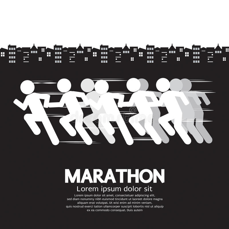 Corredor de maratón libre illustration
