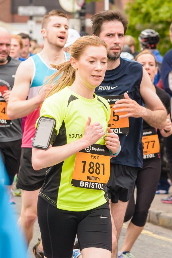 Corredor de maratón Rosie Glazier imagen de archivo libre de regalías