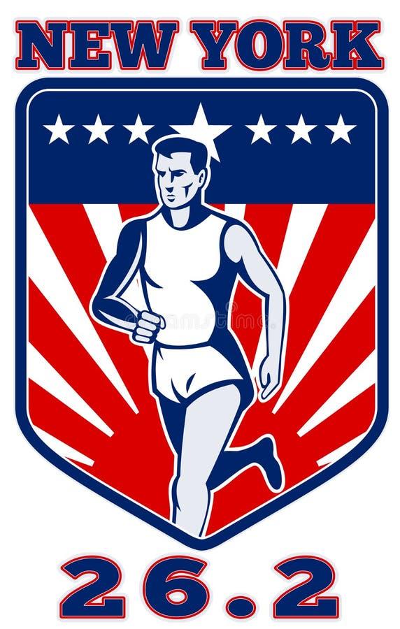 Download Corredor De Maratona New York Ilustração Stock - Ilustração de listras, americano: 16860840