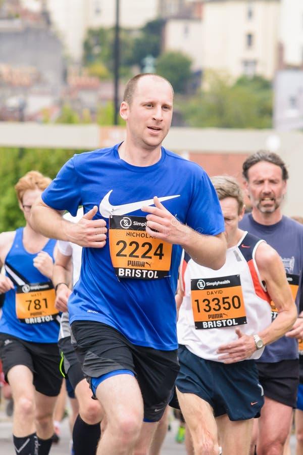 Corredor de maratona Nicholas Comer foto de stock royalty free