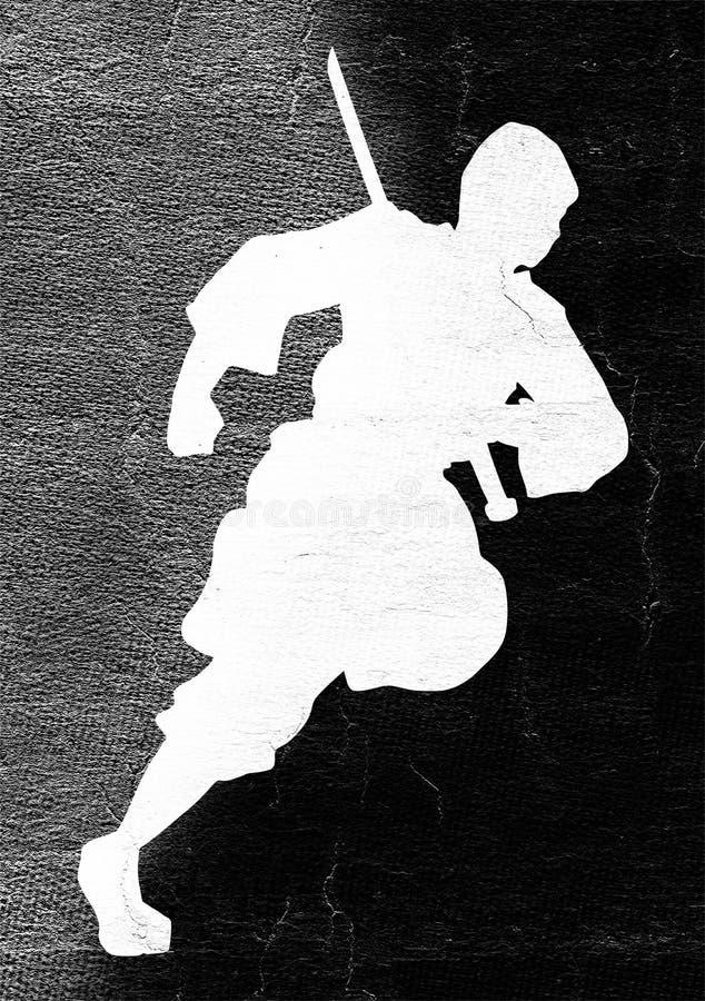 Corredor de Ninja ilustração royalty free