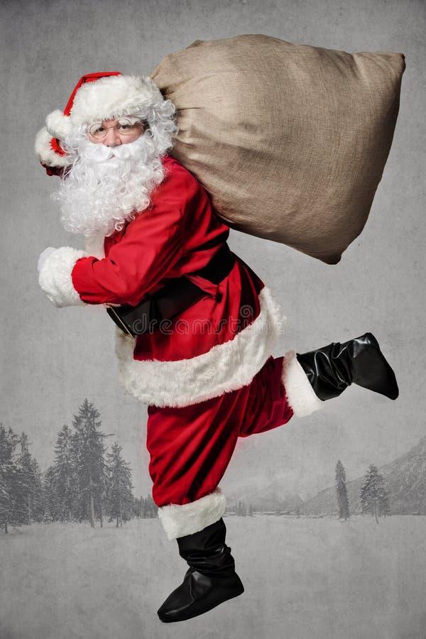 Corredor de Santa Claus fotos de stock royalty free