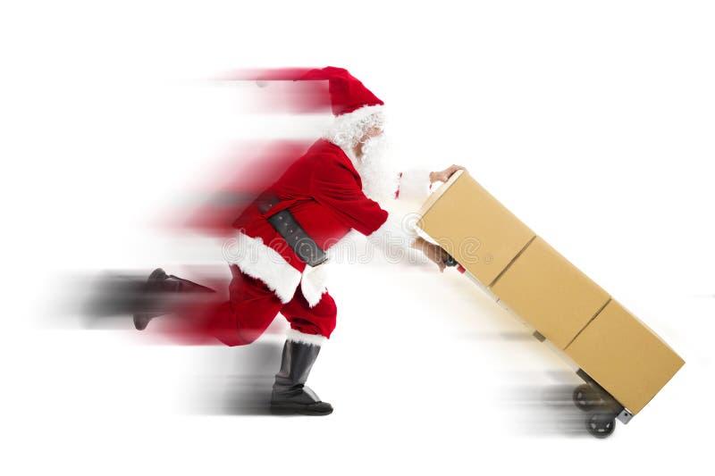 Corredor de Santa Claus e fornecimento foto de stock royalty free