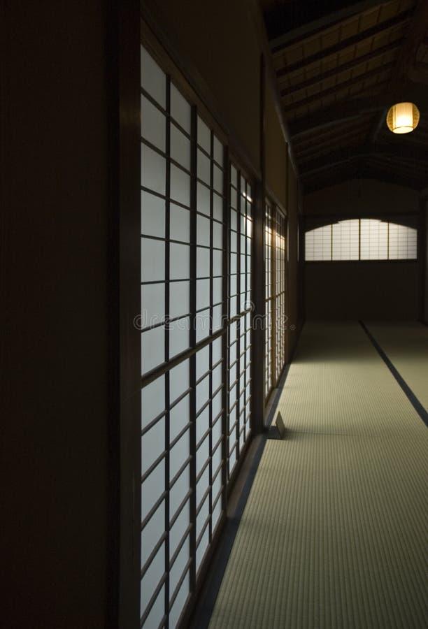 Corredor de Tatami fotografia de stock