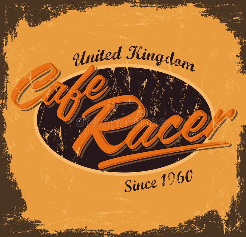 Corredor del café - diseño del vintage stock de ilustración