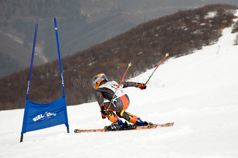Corredor del esquí foto de archivo libre de regalías