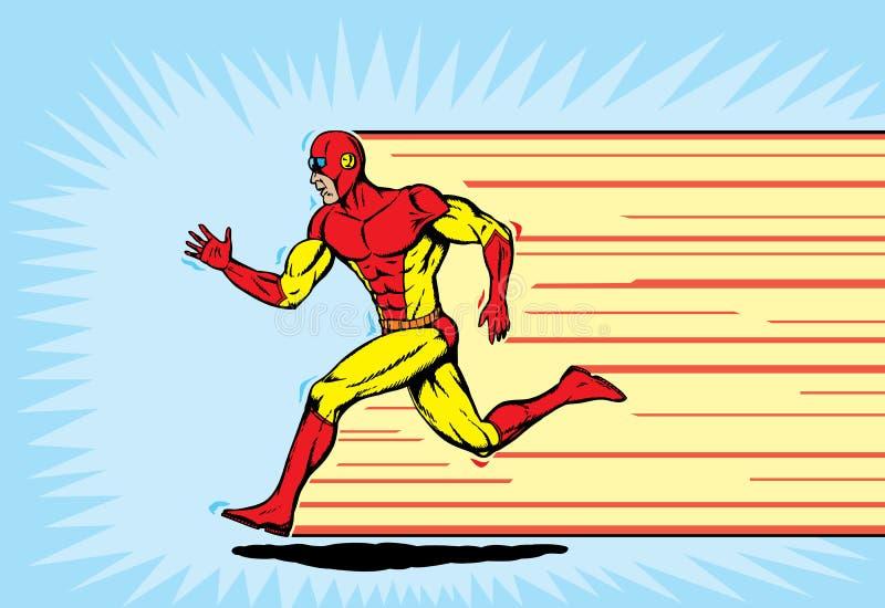 Corredor del super héroe libre illustration