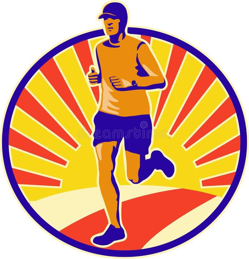 Corredor do atleta do corredor de maratona ilustração do vetor