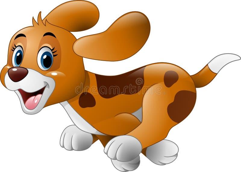 Corredor do cão pequeno dos desenhos animados ilustração royalty free