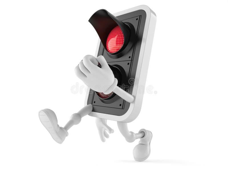 Corredor do caráter da luz vermelha ilustração do vetor