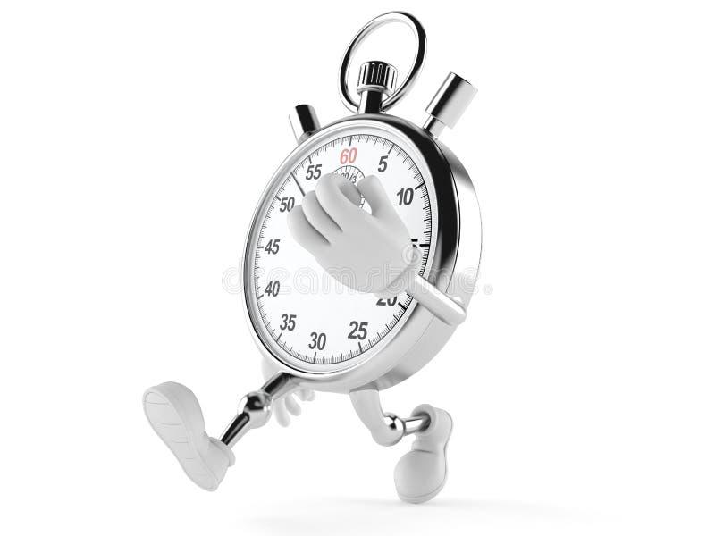 Corredor do caráter do cronômetro ilustração royalty free