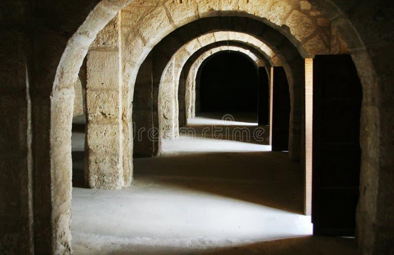 Corredor do castelo - Tunísia fotos de stock royalty free