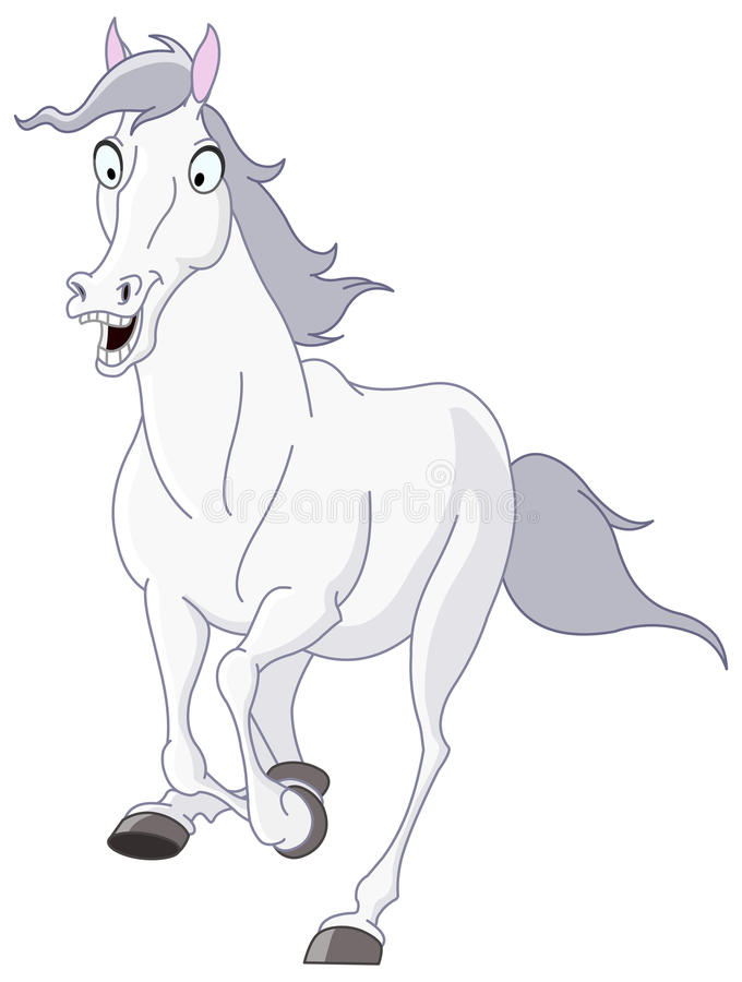 Corredor do cavalo branco ilustração royalty free