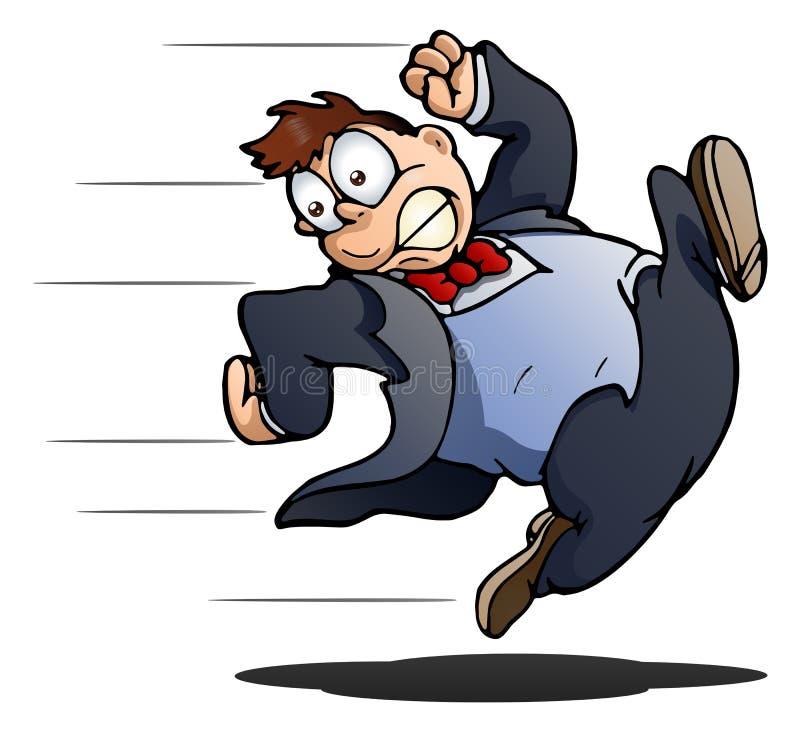 Corredor do homem de negócio ilustração do vetor
