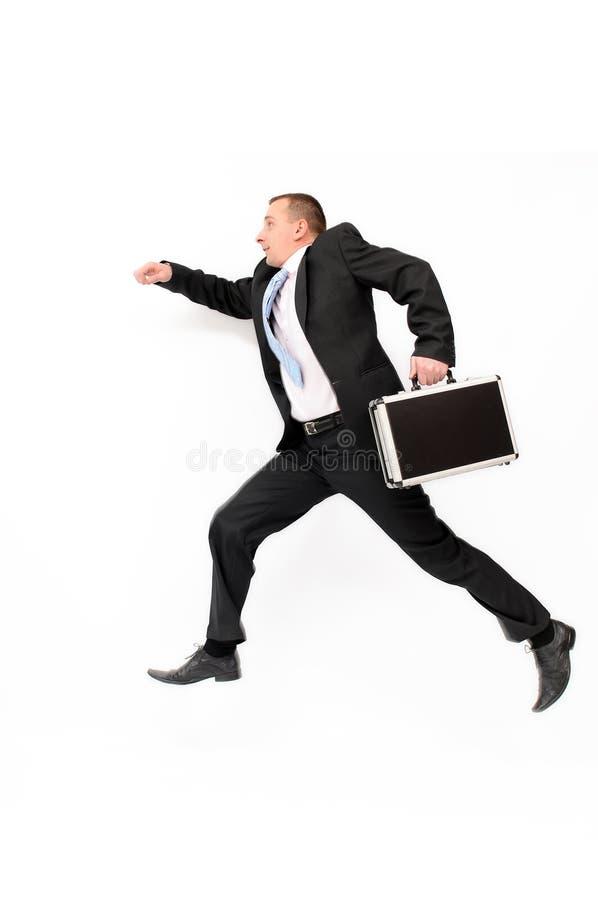 Corredor do homem de negócios foto de stock
