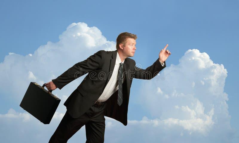 Corredor do homem de negócios fotografia de stock