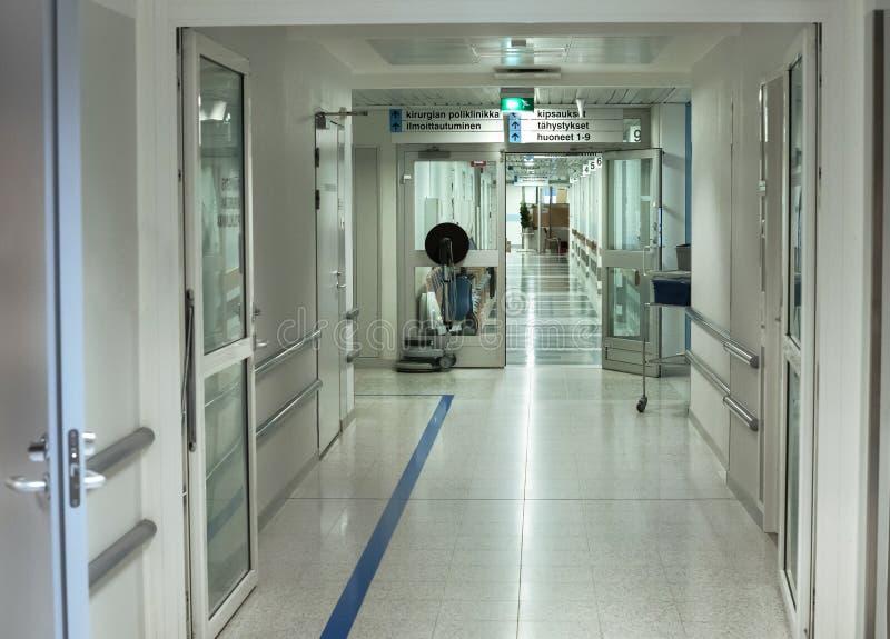 Corredor do hospital imagem de stock royalty free